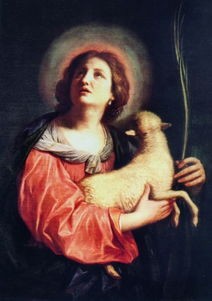 St. Agnes of Rome by Berruguete