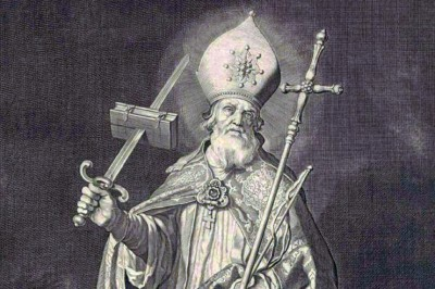 """St. Boniface of Mainz"" (detail) by Cornelis Bloemaert"