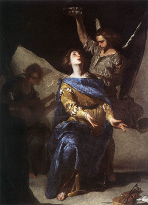 The Ecstasy of St. Cecilia by Bernardo Cavallino