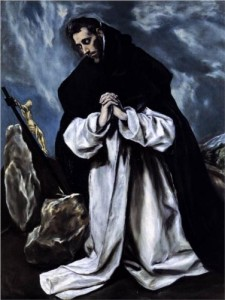 St. Dominic Praying El Greco