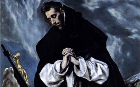 """St. Dominic Praying"" (Detail) El Greco"