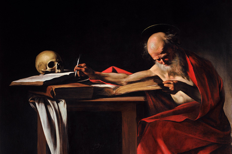 """St. Jerome Writing"" (detail) by Caravaggio"
