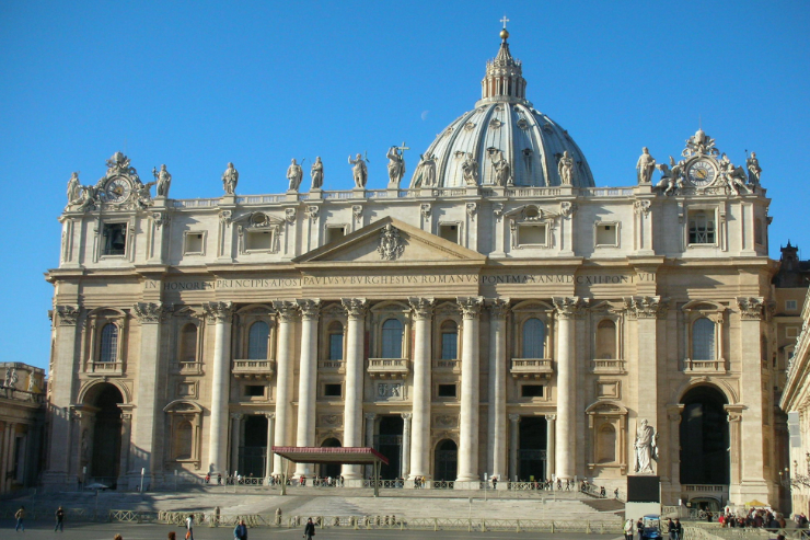 View from the front of St. Peter's Basilica | Creative Commons License (cropped to size)