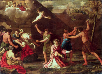 """The Stoning of St. Stephen"" by Giacinto Gimignani"