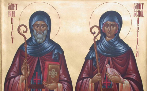 St. Benedict of Nursia and St. Scholastica of Nursia