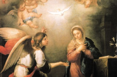 """The Annunciation"" (detail by Murillo"