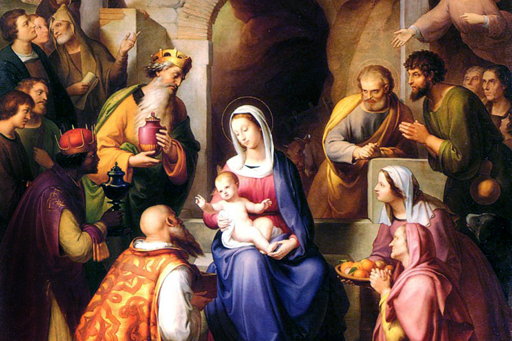 """""""The Nativity"""" (Gerburt Christi detail) by Franz von Rohden"""