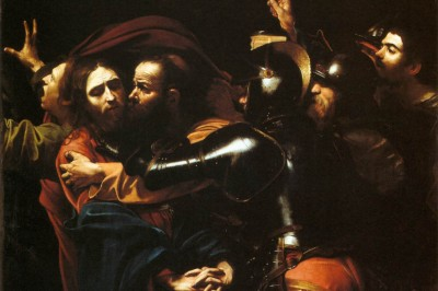 """""""The Taking of Christ"""" (detail) by Caravaggio"""