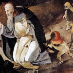 """""""The Temptation of St. Anthony"""" - by Lucas van Leyden (detail; click for full image)"""