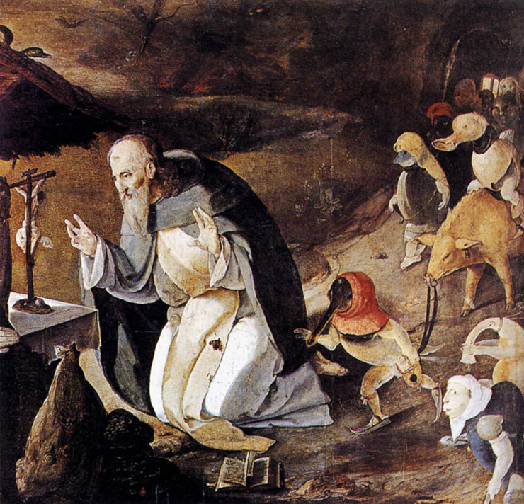"""The Temptation of St. Anthony"" - by Lucas van Leyden"