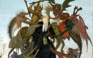 """The Torment of Saint Anthony"" (detail) by Michelangelo"