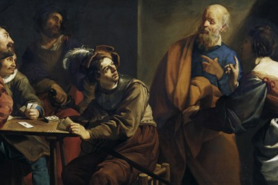 """The Denial of St. Peter"" (detail) by Theodoor Rombouts"