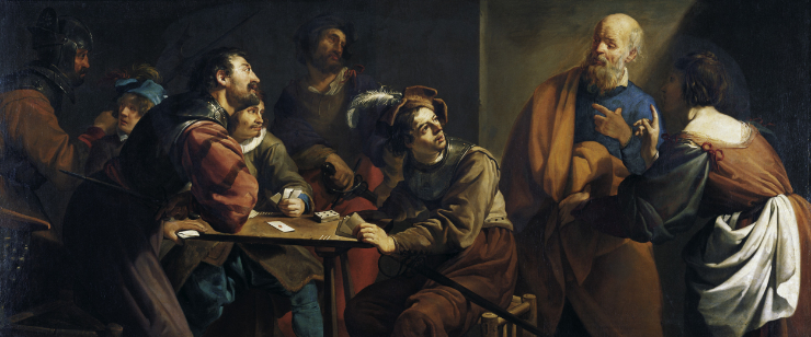 """The Denial of St. Peter"" by Theodoor Rombouts"