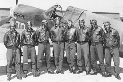 The Tuskeegee Airmen; possibly in Southern Italy or Northern Africa during World War II