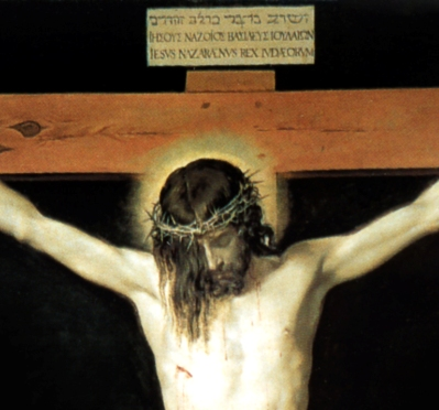 Christ on the Cross (detail) by Velazquez