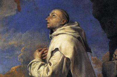 """Vision of St. Bruno"" (detail) by José de Ribera"