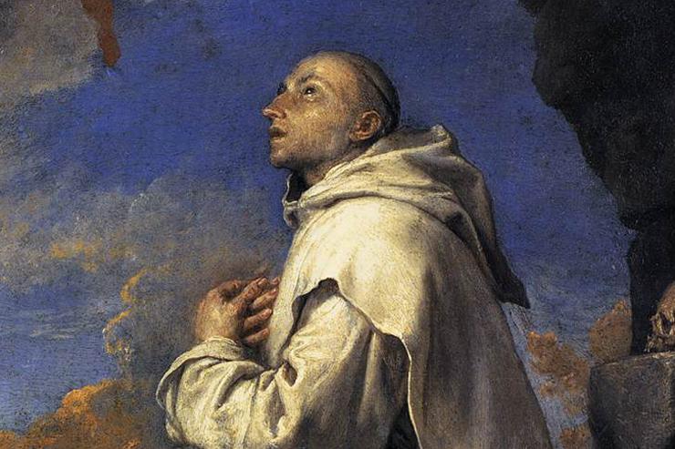 """Vision of St. Bruno"" (detail) by José de Ribera"