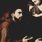 """The Vision of St. Francis"" (detail) by Jusepe de Ribera"